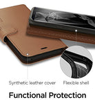 Spigen Wallet S Galaxy S8 Case with Foldable Cover and Kickstand Feature for Samsung Galaxy S8 (2017) - Coffee Brown