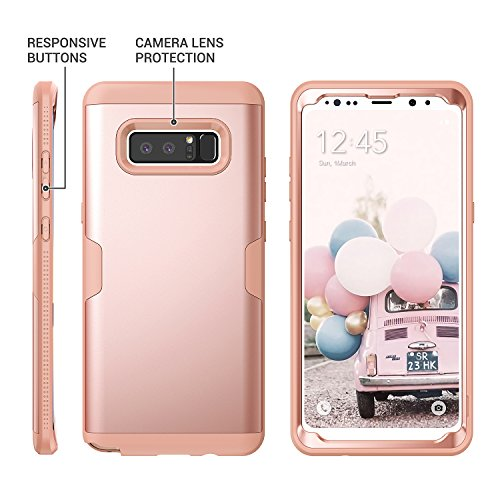 huge discount d4260 c2545 Galaxy Note 8 Case, YOUMAKER Rose Gold Full Body Heavy Duty Protection  Shockproof Slim Fit Case Cover for Samsung Galaxy Note 8 (2017 Release)  WITHOUT ...