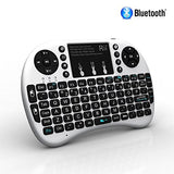Rii i8+ BT Mini Wireless Bluetooth Backlight Touchpad Keyboard with Mouse for PC/Mac/Android, White (RTi8BT-2)