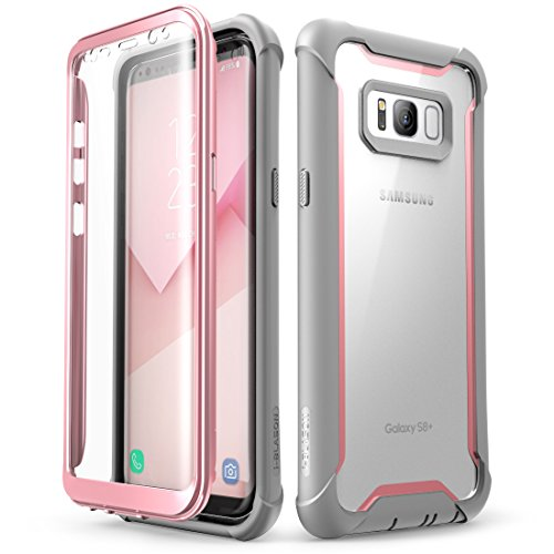 Samsung Galaxy S8+ Plus case, i-Blason Full-body Rugged Clear Bumper Case with Built-in Screen Protector for Samsung Galaxy S8+ Plus 2017 Release (Pink)