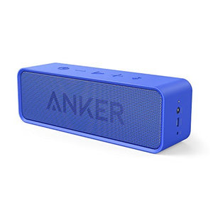 Anker SoundCore Bluetooth Speaker with 24-Hour Playtime, 66-Foot Bluetooth Range & Built-in Mic, Dual-Driver Portable Wireless Speaker with Low Harmonic Distortion and Superior Sound - Blue