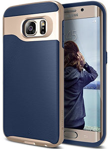 Galaxy S6 Edge Case, Caseology [Wavelength Series] Slim Dual Layer Protective Textured Grip Corner Cushion Design [Navy Blue] for Samsung Galaxy S6 Edge