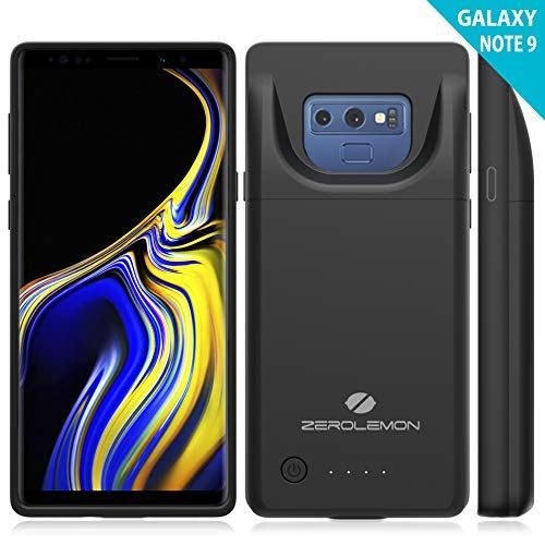 Galaxy Note 9 Battery Charging Case[Upgraded], ZeroLemon Slim Power 5000mAh Extended Rechargeable Battery Case with Sync File Transfer and Fast Charging Supported for Samsung Galaxy Note 9 - Black