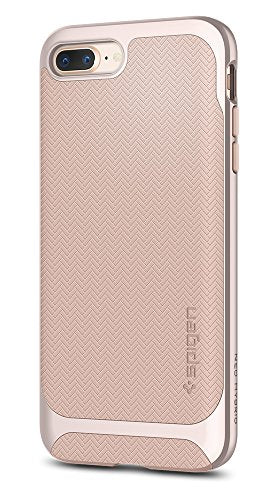 Spigen Neo Hybrid Herringbone iPhone 8 Plus Case / iPhone 7 Plus Case with Hard Bumper Frame for Apple iPhone 8 Plus (2017) / iPhone 7 Plus (2016) - Pale Dogwood