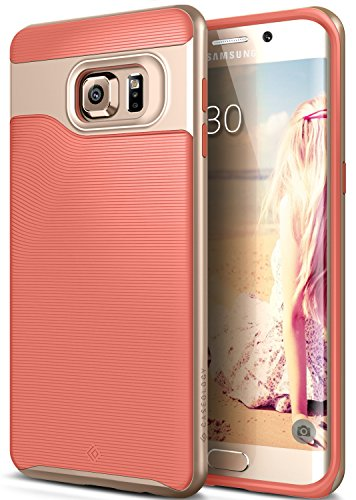 wholesale dealer 067a5 96f4c Galaxy S6 Edge Plus Case, Caseology [Wavelength Series] Slim Dual Layer  Protective Textured Grip Corner Cushion Design [Pink] for Samsung Galaxy S6  ...