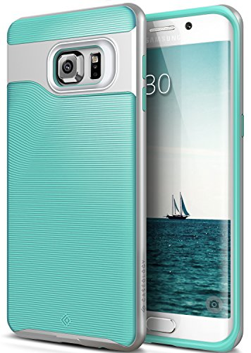 Galaxy S6 Edge Plus Case, Caseology [Wavelength Series] Slim Dual Layer Protective Textured Grip Corner Cushion Design [Mint Green] for Samsung Galaxy S6 Edge Plus