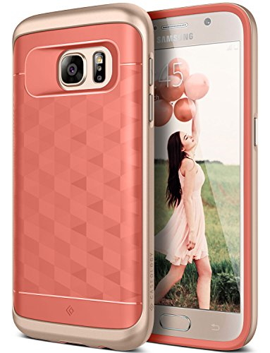 Galaxy S7 Case, Caseology [Parallax Series] Modern Slim Geometric Design [Pink] [Textured Grip] for Samsung Galaxy S7 (2016)