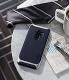 Spigen Neo Hybrid Galaxy S9 Plus Case with Flexible Herringbone Pattern Protection and Reinforced Hard Bumper Frame for Samsung Galaxy S9 Plus (2018) - Arctic Silver