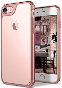 Caseology [Waterfall Series] iPhone 7 Case / iPhone 8 Case with Slim Clear Transparent Protective Shock Absorbing Air Space Technology for Apple iPhone 7 (2016) / iPhone 8 (2017) - Rose Gold