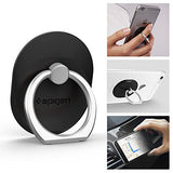 Spigen Style Ring Phone Grip Car Mount/Stand/Holder/Kickstand for iPhone X / 8 / 8 plus / 7 / 7 Plus / 6S / 6S Plus / Galaxy Note 8 / S8 / S8 Plus / S7 Edge & More and Almost All Phones - Black