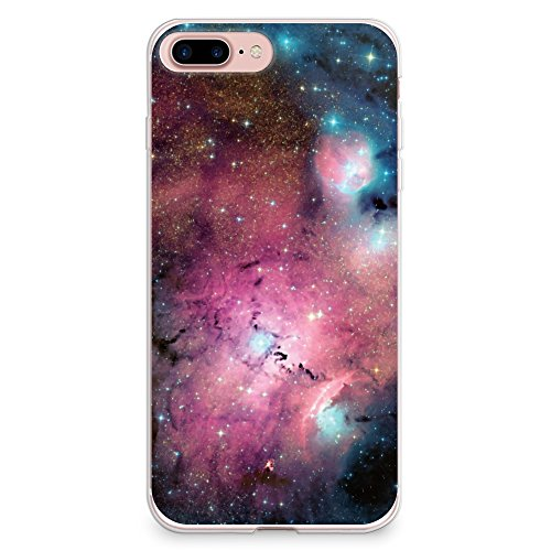 more photos 7a3d5 6ca50 iPhone 8 Plus Case, iPhone 7 Plus Case, CasesByLorraine Galaxy Space Pink  Purple Blue Sky Flexible TPU Soft Gel Protective Cover for Apple iPhone 7  ...