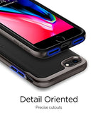 Spigen Neo Hybrid Herringbone iPhone 8 Case / iPhone 7 Case with Flexible Inner Protection and Reinforced Hard Bumper Frame for Apple iPhone 8 (2017) / iPhone 7 (2016) - Gunmetal