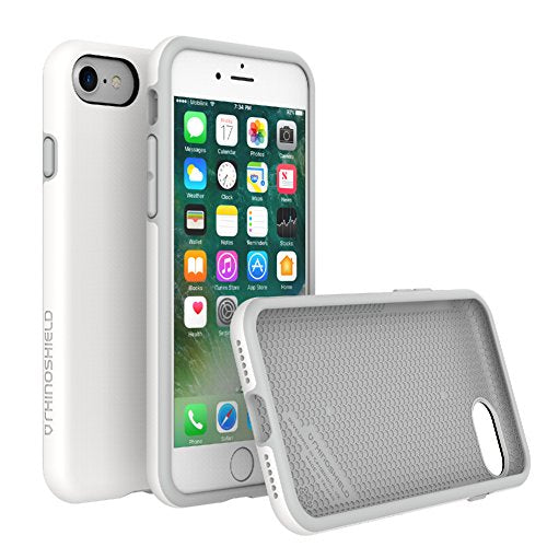 RhinoShield Case for iPhone 8/iPhone 7 [PlayProof] | Heavy Duty Shock Absorbent [High Durability] Scratch Resistant. Ultra Thin. 11ft Drop Protection Rugged Cover - White