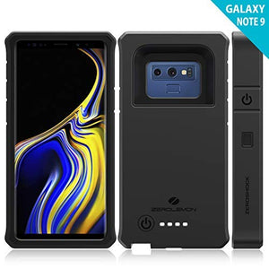 Galaxy Note 9 Battery Charging Case, ZeroLemon ZeroShock 10000mAh Extended Rechargeable Battery Rugged Case with Full Edge Protection for Samsung Galaxy Note 9 - Black