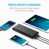 Anker PowerCore 26800 Portable Charger, 26800mAh External Battery with Dual Input Port and Double-Speed Recharging, 3 USB Ports for iPhone, iPad, Samsung Galaxy, Android and other Smart Devices