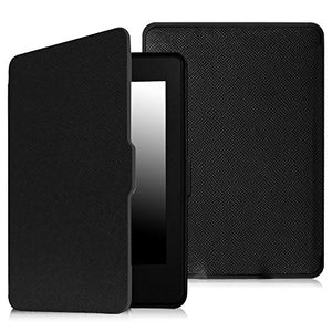 Fintie SmartShell Case for Kindle Paperwhite - The Thinnest and Lightest PU Leather Cover with Auto Sleep/Wake for all-new Amazon Kindle Paperwhite (Fits all 2012, 2013, 2015 and 2016 Versions), black, EKD0021AD-US