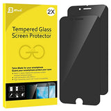 "iPhone 7 Plus Screen Protector, JETech 2-Pack Premium Privacy Anti-Spy Tempered Glass Screen Protector for Apple iPhone 7 Plus 5.5"" (Black) - 0990H"