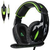 SUPSOO G813 Xbox One, PS4 Gaming Headset 3.5mm wired Over-ear Noise Isolating Microphone Volume Control for Mac / PC/ Laptop / PS4/Xbox one -Black