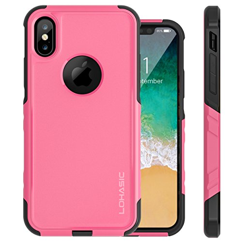 pretty nice 3fa9b 9600f iPhone X Case, Reliable Heavy Duty Drop Proof Dual Layer Protective 360  Full Body Shockproof Flexible Tpu and Hard PC Back 2 in 1 Hybrid Defender  Non ...