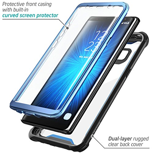 brand new 2847e 55f47 Samsung Galaxy Note 8 case, i-Blason [Ares] Full-body Rugged Clear Bumper  Case with Built-in Screen Protector for Samsung Galaxy Note 8 2017 Release  ...