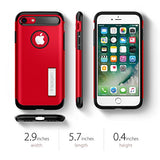 Spigen Slim Armor iPhone 7 / iPhone 8 Case with Kickstand and Air Cushion Technology Hybrid Drop Protection for Apple iPhone 7 (2016) / iPhone 8 (2017) - Crimson Red