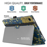 MoKo Case for All-New Amazon Fire HD 8 Tablet (7th Generation, 2017 Release Only) - Slim Folding Stand Cover for Fire HD 8, Flowers (with Auto Wake / Sleep)