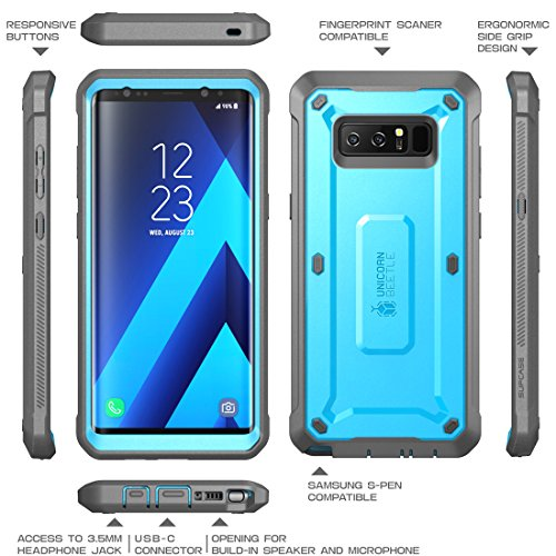 sports shoes f71f9 af844 Samsung Galaxy Note 8 Case, SUPCASE Full-body Rugged Holster Case with  Built-in Screen Protector for Galaxy Note 8 (2017 Release), Unicorn Beetle  ...
