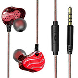 Earbuds, AUDIMI Y01 In-ear Wired Earphones with Microphone Dual Dynamic Drivers Noise Canceling 3.5mm Jack Plug Super Bass HD Stereo Sport Workout Ear Headphones