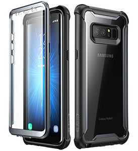 Samsung Galaxy Note 8 case, i-Blason [Ares] Full-body Rugged Clear Bumper Case with Built-in Screen Protector for Samsung Galaxy Note 8 2017 Release (Black)