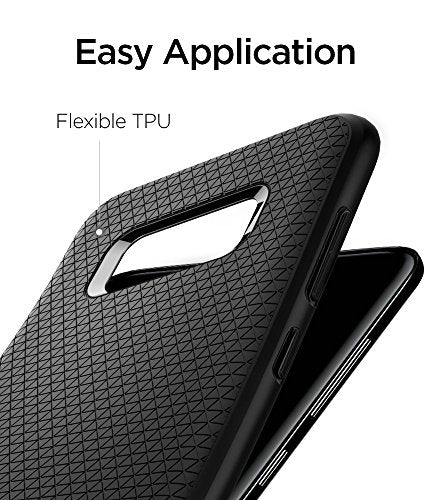 the best attitude e21cb 2e62c Spigen Liquid Air Armor Galaxy S8 Plus Case with Durable Flex and Easy Grip  Design for Samsung Galaxy S8 Plus (2017) - Black