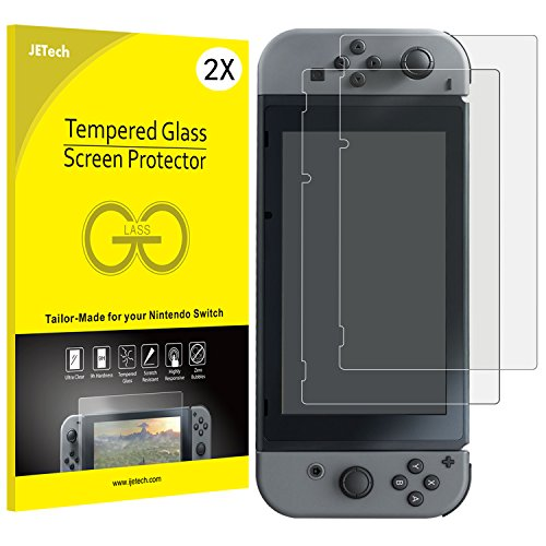 JETech 2-Pack Tempered Glass Screen Protector for Nintendo Switch 2017