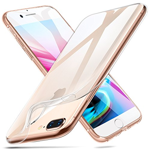 buy popular a60a8 dfeab ESR iPhone 8 Plus Case, iPhone 7 Plus Case,Slim Clear Soft TPU Cover  [Support Wireless Charging] for Apple 5.5