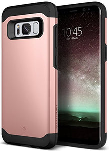 Galaxy S8 Case, Caseology [Legion Series] Heavy Duty Protection Slim Protective Rugged Dual Layer Corner Cushion Design [Rose Gold] for Samsung Galaxy S8 (2017)