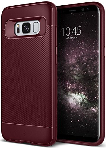 Galaxy S8 Case, Caseology [Vault II Series] Slim Protective Shock Absorbing TPU Textured Grip Corner Cushion Design [Burgundy] for Samsung Galaxy S8 (2017)