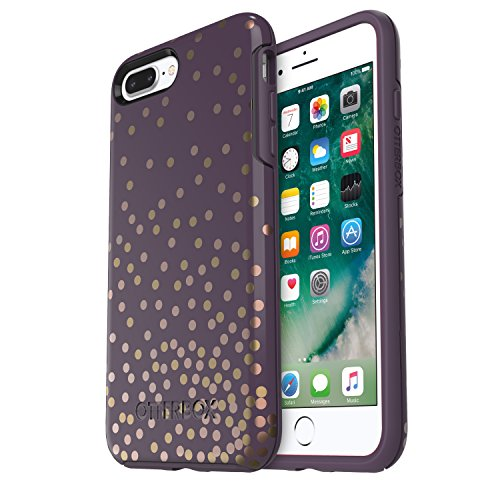 OtterBox SYMMETRY SERIES Case for iPhone 8 Plus & iPhone 7 Plus (ONLY) - Retail Packaging - CONFETTI (PURPLE/CONFETTI GRAPHIC)
