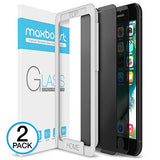 iPhone 7 8 Screen Protector, Maxboost [Privacy Black] iPhone 8 7 6s 6 Screen Privacy Screen Protector [2 Pack] Anti-Spy Tempered Glass Screen, Anti-Scratch, Anti-Fingerprint, Easy Install - 2 Pack