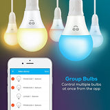 Geeni Prisma 450 A19 Smart Wi-Fi LED Mulitcolor Light Bulb - 40W Equivalent, No Hub Required, Works with Alexa, Google Assistant & Microsoft Cortana