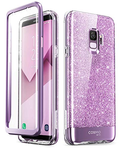 online store 8d1d2 a8dc4 Samsung Galaxy S9 Case, [Built-in Screen Protector] i-Blason [Cosmo]  Full-Body Glitter Sparkle Bumper Protective Case for Galaxy S9 (2018  Release) ...