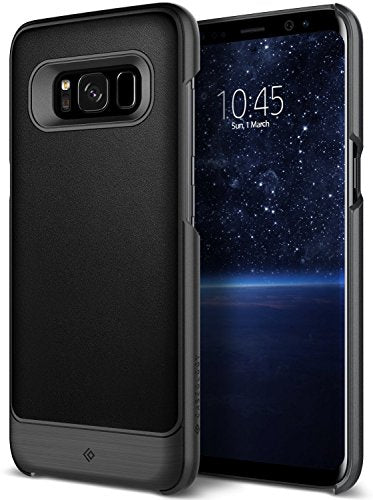 Galaxy S8 Plus Case, Caseology [Fairmont Series] Slim Premium PU Leather Impact Protection Ultra Low-Profile [Black] for Samsung Galaxy S8 Plus (2017)