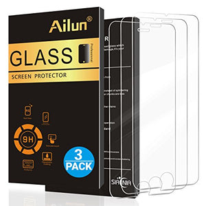iPhone 7 Screen Protector,[4.7inch][3 Packs]by Ailun,2.5D Edge Tempered Glass for iPhone 7,Anti-Scratch,Case Friendly,Siania Retail Package
