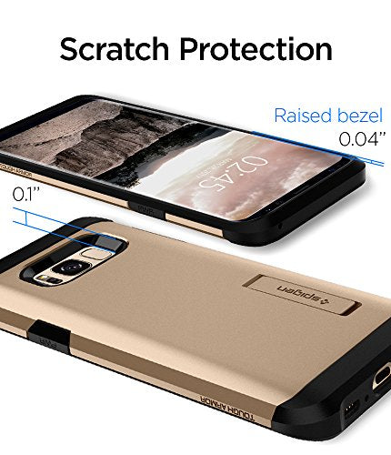 hot sale online dd57a 08715 Spigen Tough Armor Galaxy S8 Plus Case with Kickstand and Extreme Heavy  Duty Protection and Air Cushion Technology for Galaxy S8 Plus (2017) -  Maple ...