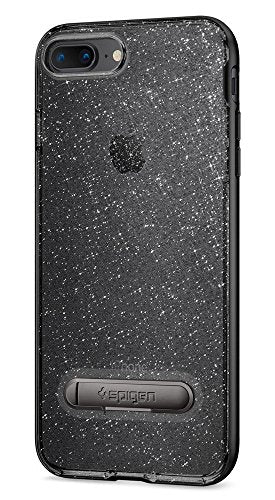 Spigen Crystal Hybrid iPhone 7 Plus / iPhone 8 Plus Case with Flexible Inner Casing and Reinforced Hard Bumper Frame for Apple iPhone 7 Plus (2016) / iPhone 8 Plus (2017) - Glitter Space Quartz