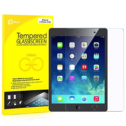 JETech iPad 2017 9.7-inch, iPad Air, iPad Air 2, iPad Pro 9.7 Tempered Glass Screen Protector Film - 0338