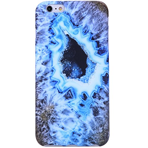 iPhone 6 Case,iPhone 6s Case Agate blue gold, VIVIBIN Shock Absorption Anti Scratch IMD Soft TPU Silicon Gel Protective Cover Case for Regula iPhone 6 / iPhone 6s - 4.7