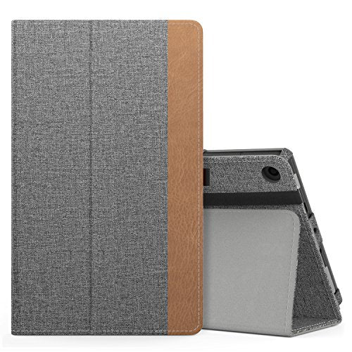 MoKo Case for All-New Amazon Fire HD 8 Tablet (7th Generation, 2017 Release Only) - Slim Folding Stand Cover for Fire HD 8, Jeans Gray (with Auto Wake / Sleep)