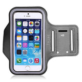 Water Resistant Cell Phone Armband: 5.2 Inch Case for iPhone 7, 6, 6S, SE, 5, 5C, 5S, and Galaxy S5, Google Pixel - Adjustable Reflective Velcro Workout Band, Key Holder & Screen Protector