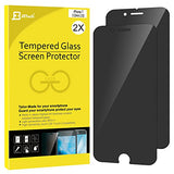 "iPhone 7 Screen Protector, JETech 2-Pack Premium Privacy Anti-Spy Tempered Glass Screen Protector for Apple iPhone 7 4.7"" (Black) - 0980H"