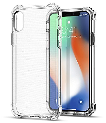 new concept f9302 71b80 Spigen Rugged Crystal iPhone X Case with Clear back panel and Reinforced  Corners on TPU bumper for Apple iPhone X (2017) - Crystal Clear