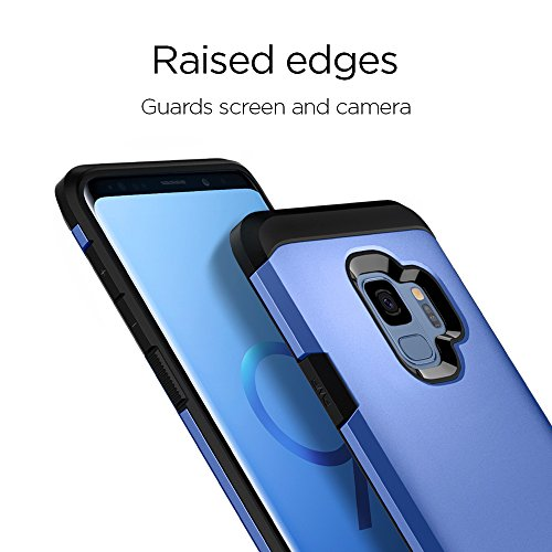 new product b4fdd 45dc5 Spigen Tough Armor Galaxy S9 Case with Reinforced Kickstand and Heavy Duty  Protection and Air Cushion Technology for Samsung Galaxy S9 (2018) - Coral  ...