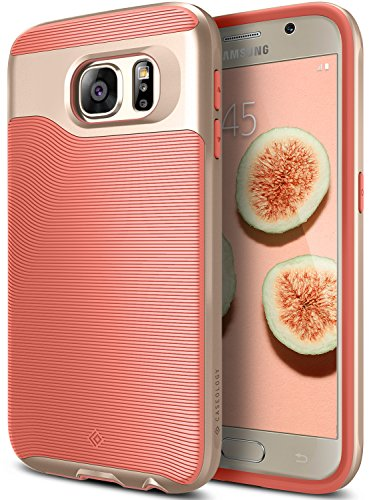 Galaxy S6 Case, Caseology [Wavelength Series] Slim Dual Layer Protective Textured Grip Corner Cushion Design [Pink] for Samsung Galaxy S6
